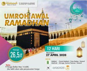 Paket Umroh Awal Ramadhan 2020