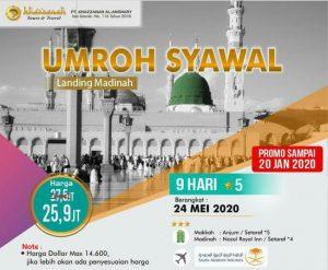 Paket Umroh Ramadhan Syawal 2020