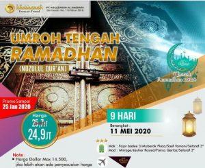 Paket Umroh Tengah Ramadhan 2020