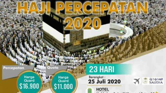 Visa E-haji Paket Haji ONH Pus 2020 Tanpa Antri