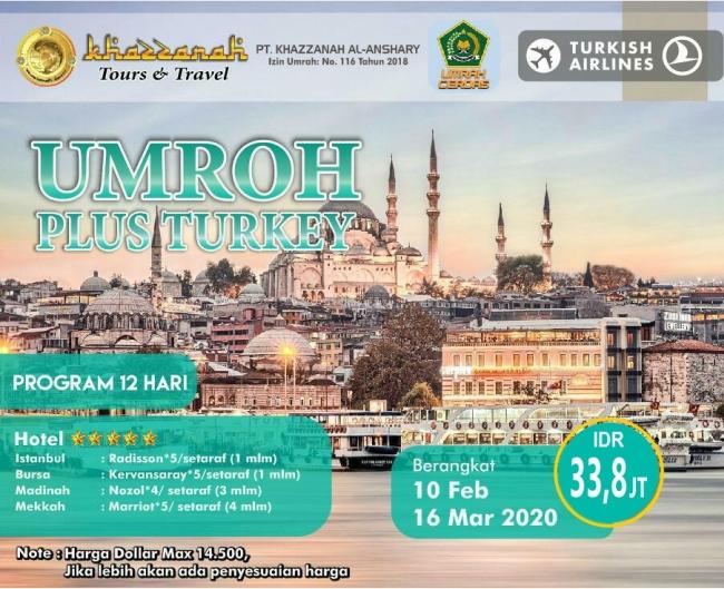 Paket Umroh Februari 2020 Plus Turki