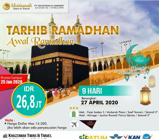 Paket Umroh April Awal Ramadhan 2020