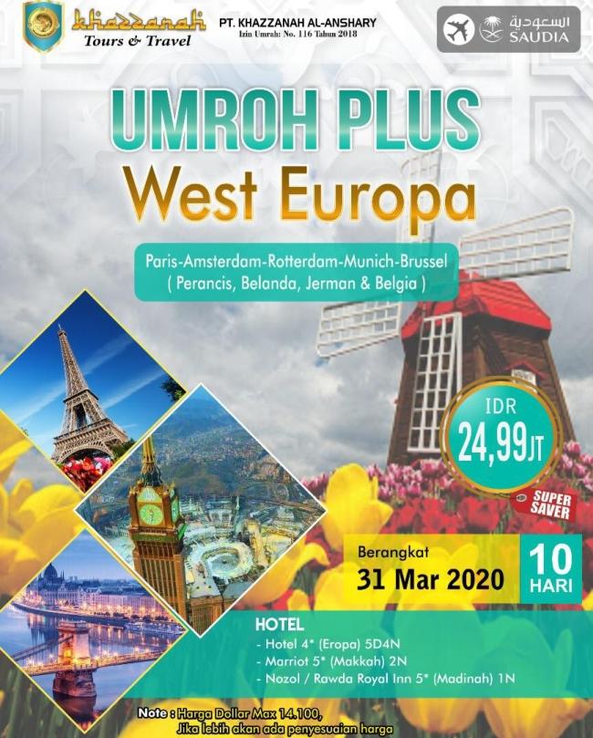 Paket Umroh Maret 2020 Plus Eropa